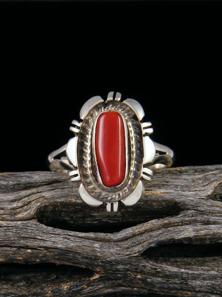 Coral Ring, Size 7 3/4