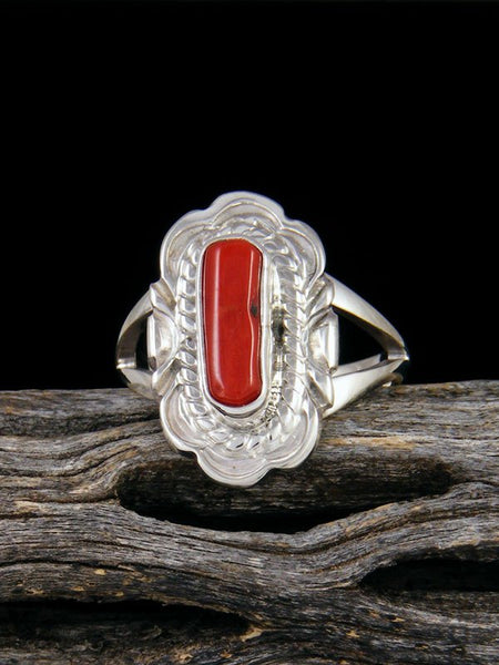 Coral Ring, Size 7 1/4
