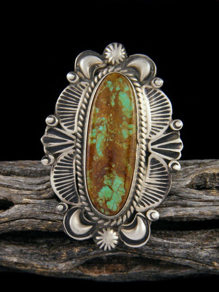 Green Turquoise Ring, Size 11 1/2