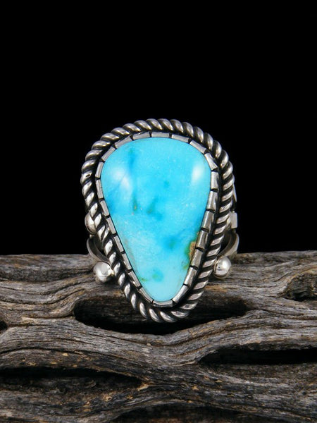 Sonoran Gold Sterling Silver Turquoise Ring, Size 8