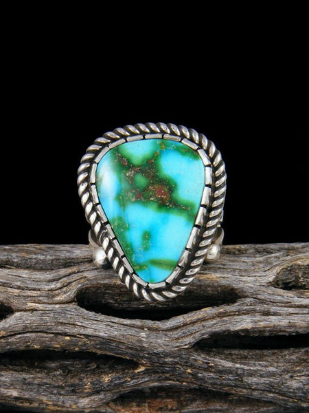 Sonoran Gold Sterling Silver Turquoise Ring, Size 6 1/2
