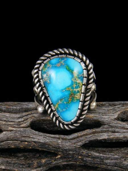 Sonoran Gold Sterling Silver Turquoise Ring, Size 7 3/4