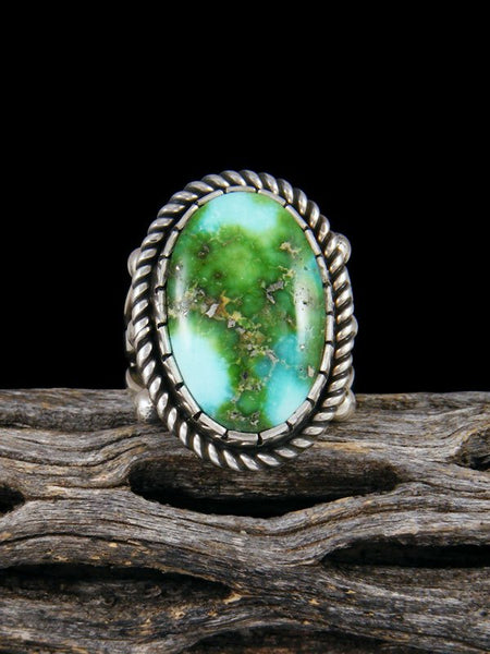 Sonoran Gold Sterling Silver Turquoise Ring, Size 7