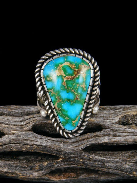 Sonoran Gold Sterling Silver Turquoise Ring, Size 9