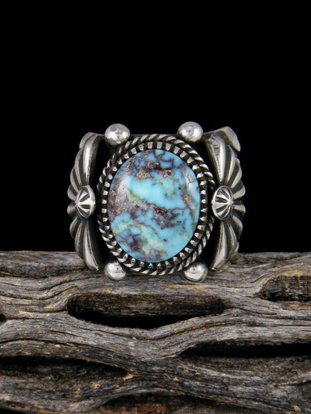 Navajo Natural Dry Creek Turquoise Sterling Silver Ring Size 11 3/4