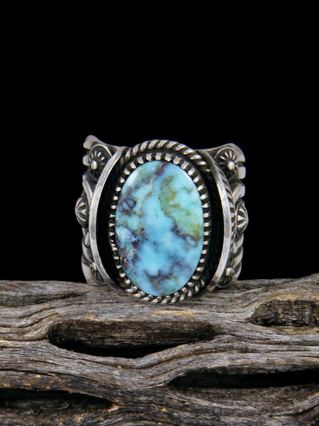 Navajo Natural Dry Creek Turquoise Sterling Silver Ring Size 10