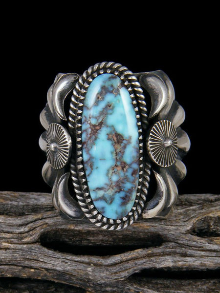 Navajo Natural Dry Creek Turquoise Sterling Silver Ring Size 10 1/2