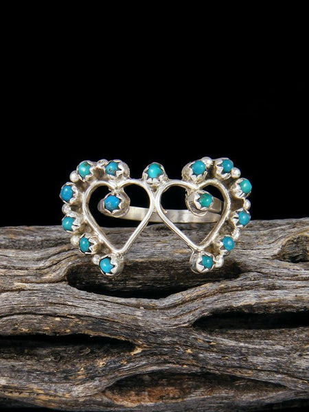 Turquoise Petit Pointe Ring, Size 4