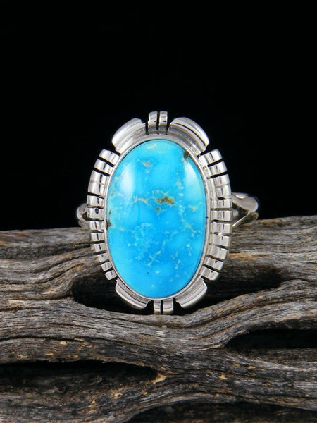 Sonoran Rose Turquoise Sterling Silver Ring, Size 8