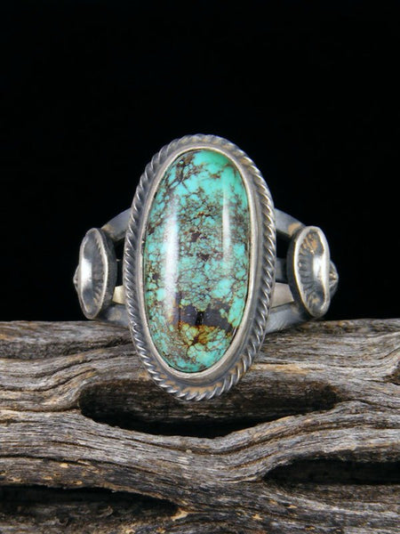 Turquoise Sterling Silver Ring, Size 9 1/4