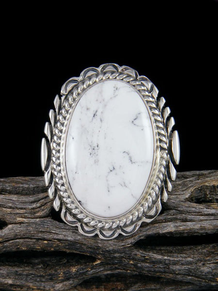 White Buffalo Ring, Size  6 1/2