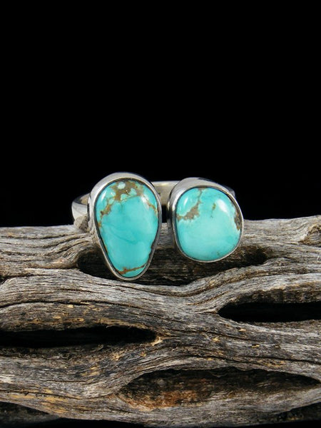 Adjustable Sierra Nevada Turquoise Ring, Size 7-8