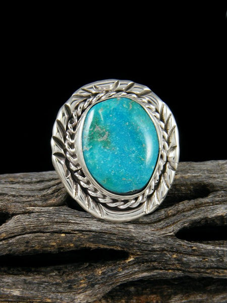 Sterling Silver Turquoise Ring, Size 6