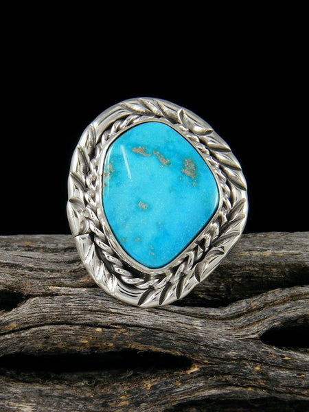 Sterling Silver Turquoise Ring, Size 5.5