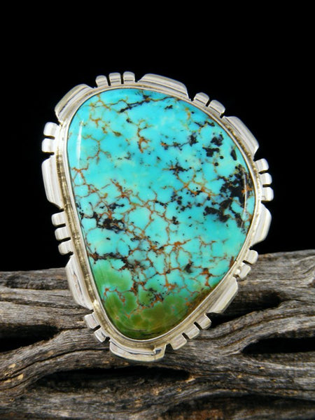 Native American Turquoise Sterling Silver Ring, Size 8