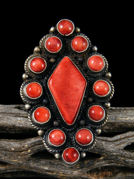 Red Spiny Oyster Ring, Size 8