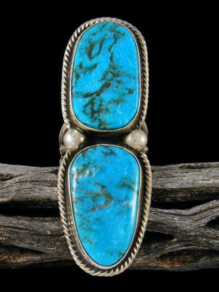 Native American Turquoise Ring, Size 7.5