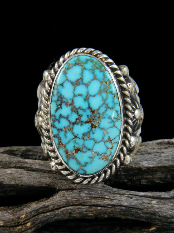 Natural Turquoise Mountain Ring, Size 7
