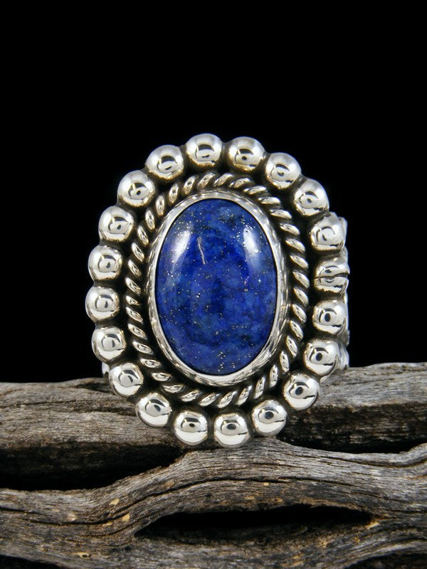 Sterling Silver Lapis Ring, Size 13
