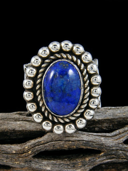 Sterling Silver Lapis Ring, Size 14