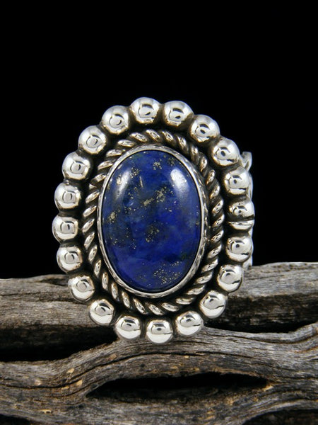 Sterling Silver Lapis Ring, Size 12 1/2