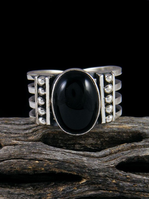 Native American Onyx Ring, Multiple Sizes