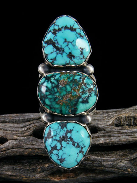Cloud Mountain Turquoise Ring, Size 7 1/2+