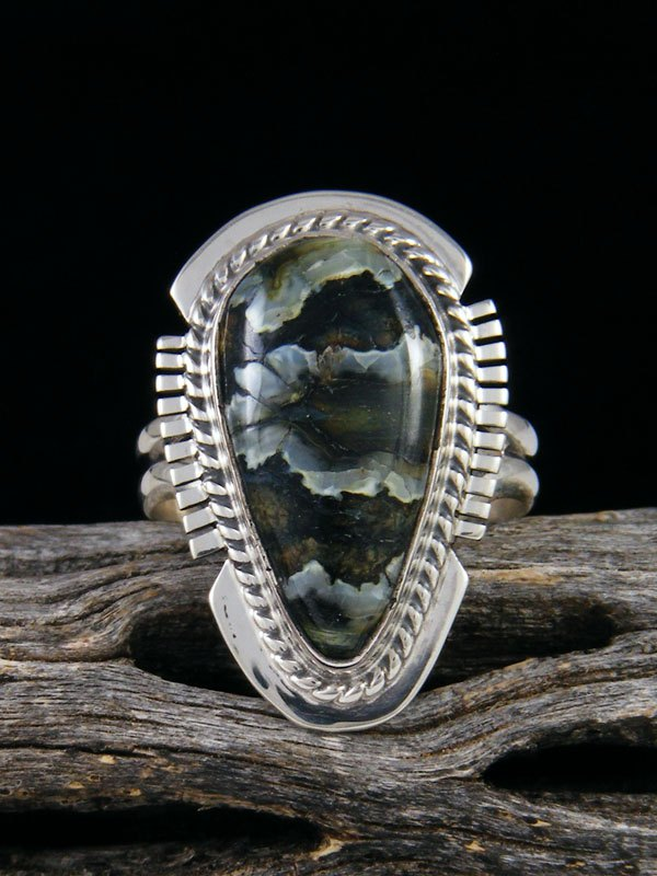 Fossilized Mammoth Tooth Ring, Size 8 by Larson Lee at PuebloDirect com