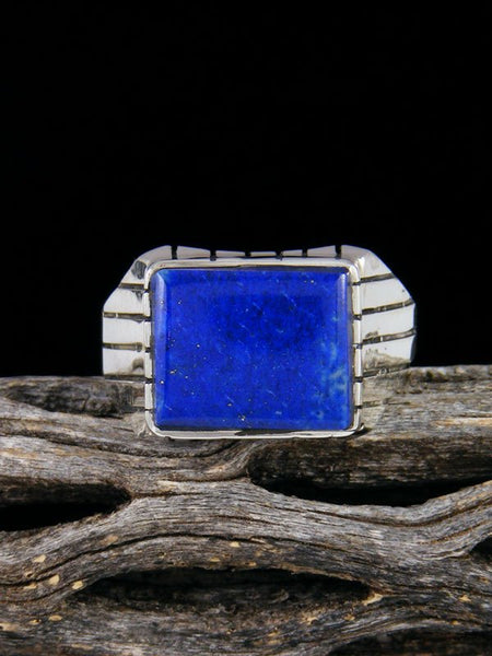 Native American Lapis Ring, Multiple Sizes