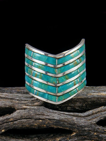 Turquoise Zuni Inlay Ring, Multiple Sizes