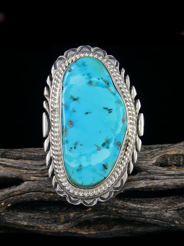 Natural Sleeping Beauty Turquoise Ring, Size 9