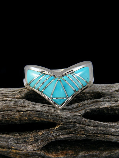 Turquoise Inlay Ring, Size 8