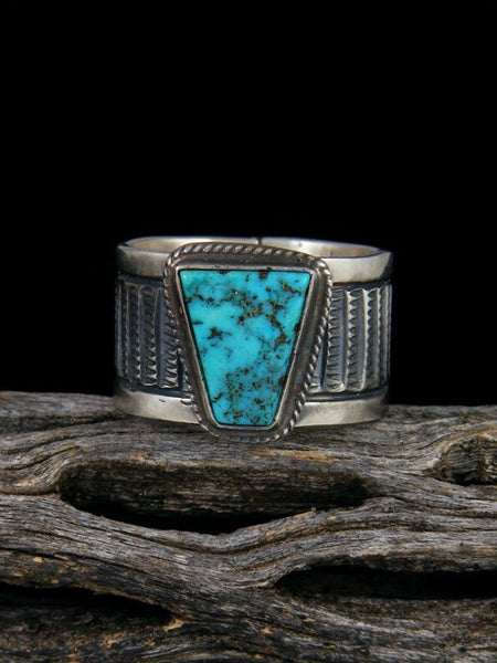 Kingman Turquoise Sterling Silver Ring, Size 8