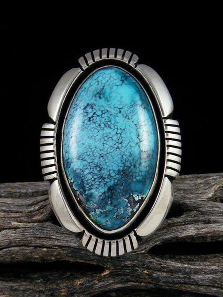Blue Moon Turquoise Ring, Size 8