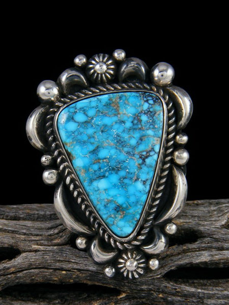 Adjustable Natural Kingman Turquoise Ring, Size 9