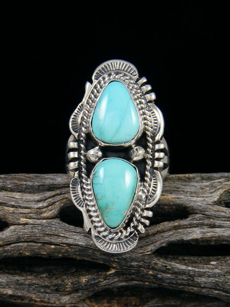 Navajo Turquoise Ring, Size 5 1/2