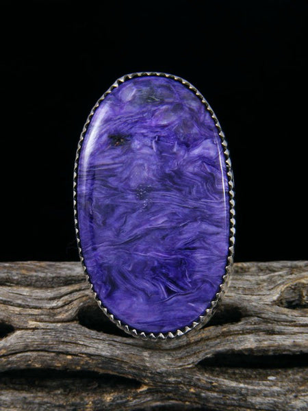 Native American Charoite Ring, Size 8