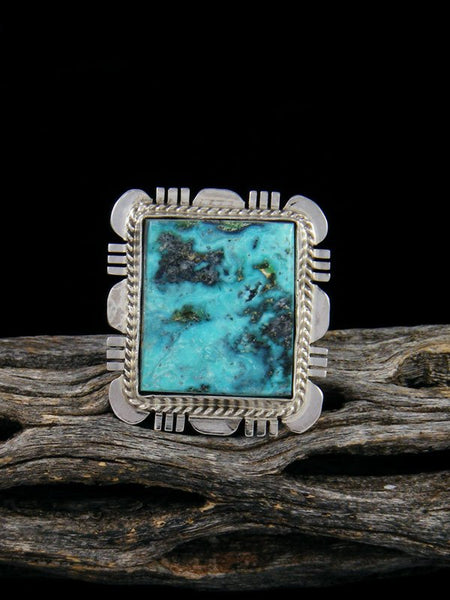 Blue Diamond Turquoise Ring, Size 6