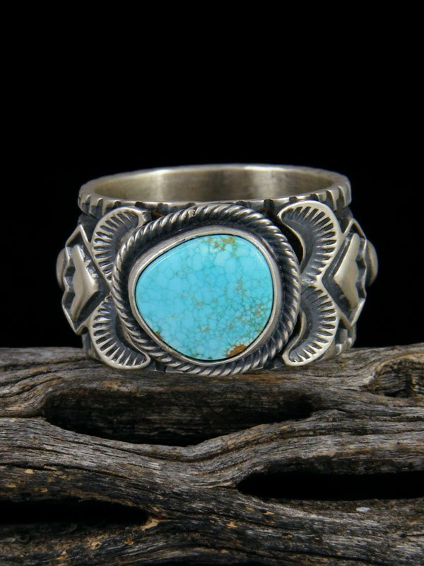 Number Eight Turquoise Ring, Size 11