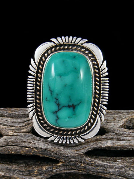 Adjustable Cloud Mountain Turquoise Ring