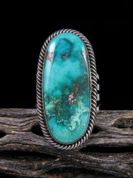 Native American Turquoise Ring, Size 10