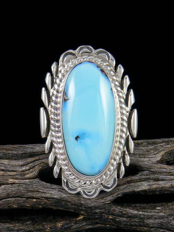 Golden Hill Turquoise Ring, Size 7 1/4