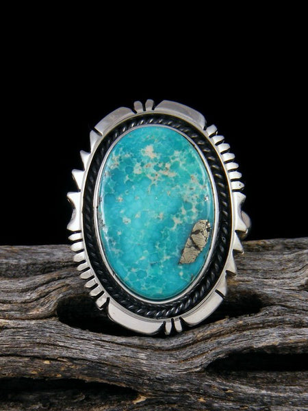 White Water Turquoise Ring, Size 7