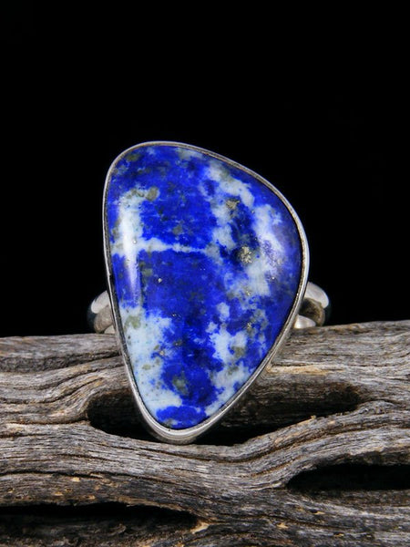 Native American Lapis Ring, Size 8