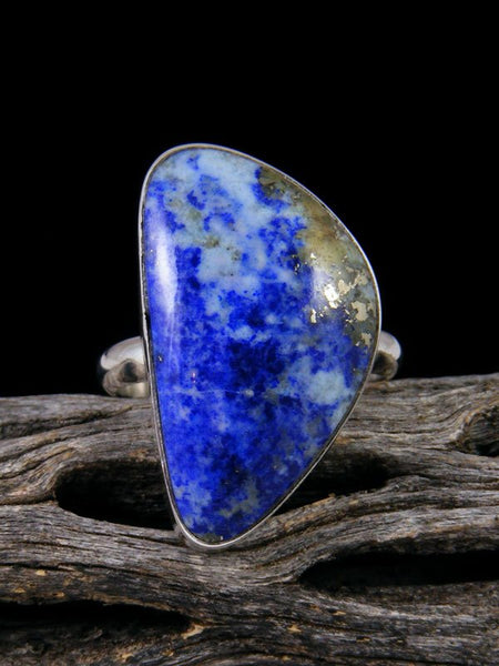Native American Lapis Ring, Size 8 1/2