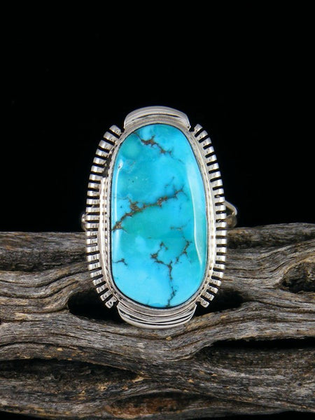Sleeping Beauty Turquoise Ring, Size 8 1/2