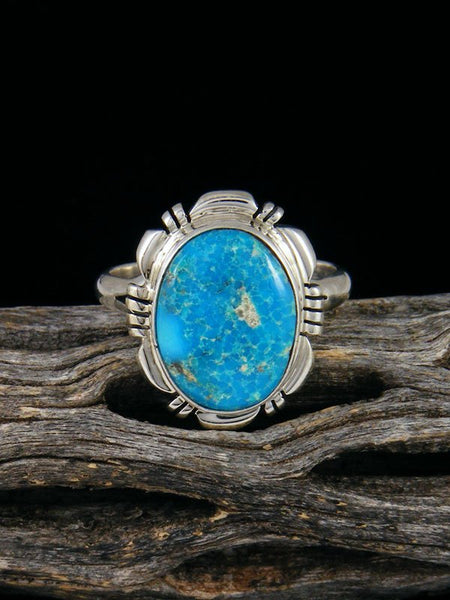 Sonoran Rose Turquoise Ring, Size 9
