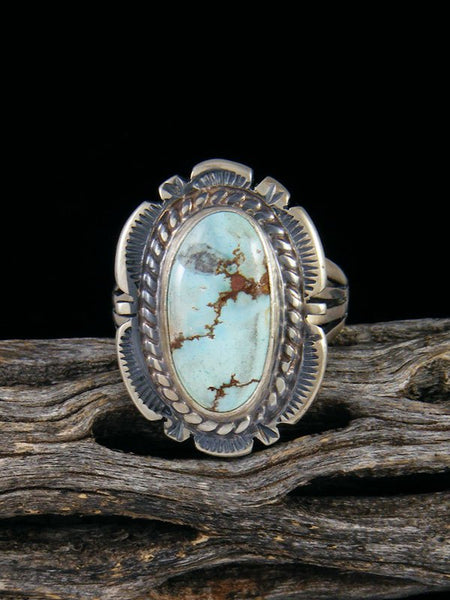Golden Hill Turquoise Sterling Silver Ring, Size 8 1/4