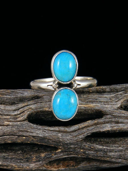 Sleeping Beauty Turquoise Ring, Size 8 1/4
