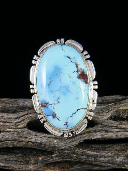 Golden Hill Turquoise Ring, Size 8